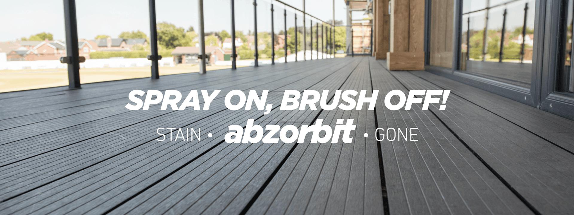 Spray On, Brush Off, Stain Abzorbit Gone