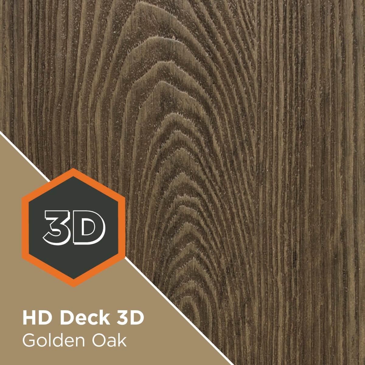 HD Deck 3D Golden Oak